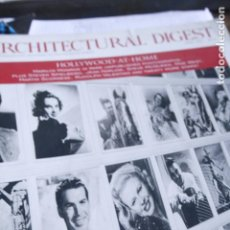 Coleccionismo de Revistas y Periódicos: INGLES ARCHITECTURAL DIGEST HOLLYWOOD RODOLFO VALENTINO CLARA BOW MARILYN MONROE BELA LUGOSI . Lote 194512652