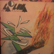 Coleccionismo de Revistas y Periódicos: REVISTA LA LUNA DE MADRID NUM 19, JUNIO 1985. LA PASION Y LA INDIFERENCIA. Lote 194519765