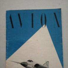 Coleccionismo de Revistas y Periódicos: AVION - REVISTA DE DIVULGACION AERONAUTICA - NOVIEMBRE 1955. Lote 194526605