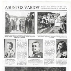 Coleccionismo de Revistas y Periódicos: 1911 HOJA REVISTA MADRID CENTRO HISPANO-MARROQUÍ MARÍA JARDIEL PONCELA SOBRESALIENTE EN ÁRABE VULGAR. Lote 194526991