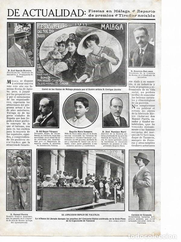 1911 HOJA REVISTA ASTURIAS MIERES CONCURSO DE TIRO GANADOR MANUEL PUERTA (Coleccionismo - Revistas y Periódicos Antiguos (hasta 1.939))