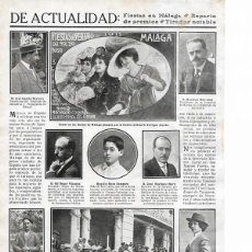 Coleccionismo de Revistas y Periódicos: 1911 HOJA REVISTA ASTURIAS MIERES CONCURSO DE TIRO GANADOR MANUEL PUERTA. Lote 194527693