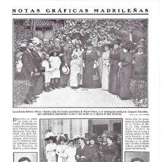 Coleccionismo de Revistas y Periódicos: 1911 HOJA REVISTA MADRID BODA ENRIQUETA PERIS-MENCHETA Y FRANCISCO MARTÍN CABALLERO ESCRITOR HUELVA. Lote 194530683