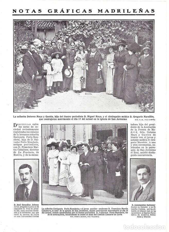 1911 HOJA REVISTA MADRID ABOGADO JOSÉ GONZÁLEZ JUBANY - DOCTOR EN DERECHO CONSTANTINO BALLESTER (Coleccionismo - Revistas y Periódicos Antiguos (hasta 1.939))