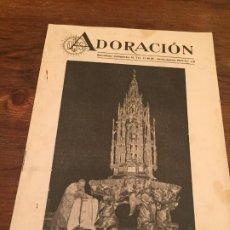 Coleccionismo de Revistas y Periódicos: ANTIGUA REVISTA RELIGIOSA ADORACIÓN BARCELONA NUMERO 110 AÑO 1952. Lote 194537122