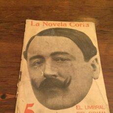 Coleccionismo de Revistas y Periódicos: ANTIGUA REVISTA LA NOVELA CORTA EL UMBRAL DEL DRAMA DE MANUEL BUENO AÑO 1916. Lote 194537495