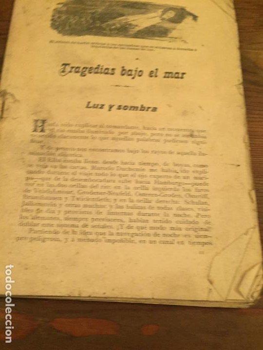 Coleccionismo de Revistas y Periódicos: Antigua revista / cuento Trajedias bajo el mar Luz y sombra años 20 - Foto 2 - 194537685