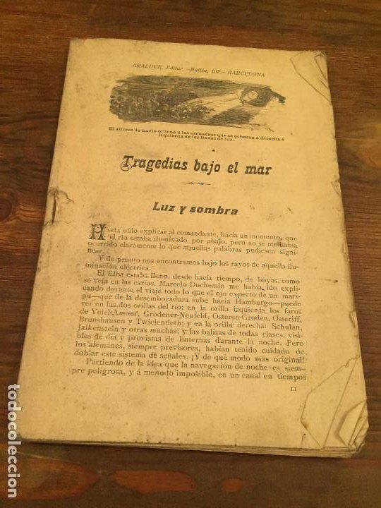 ANTIGUA REVISTA / CUENTO TRAJEDIAS BAJO EL MAR LUZ Y SOMBRA AÑOS 20 (Coleccionismo - Revistas y Periódicos Modernos (a partir de 1.940) - Otros)