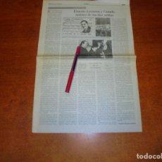 Coleccionismo de Revistas y Periódicos: RECORTE DE PRENSA 1995: CANARIAS Y CUBA. ERNESTO LECUONA Y CASADO, MÚSICO DE LAS DOS ORILLAS. Lote 194540940