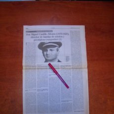 Coleccionismo de Revistas y Periódicos: RECORTE DE PRENSA 1995: MIGUEL CASTILLO ALFONSO DIRECTOR DE BANDAS DE MÚSICA Y COMPOSITOR (I) GÜIMAR. Lote 194541161