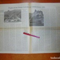 Coleccionismo de Revistas y Periódicos: RECORTE DE PRENSA 1995: PREGÓN DE LAS FIESTAS DE VALLEHERMOSO 1995 LA GOMERA. GALERIA DE HARRY BEUST. Lote 194541186