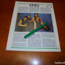 Coleccionismo de Revistas y Periódicos: CLIPPING 1991: THE KINKS. Lote 194541805