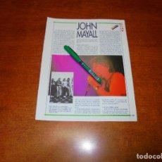 Coleccionismo de Revistas y Periódicos: CLIPPING 1991: JHON MAYALL. Lote 194541991