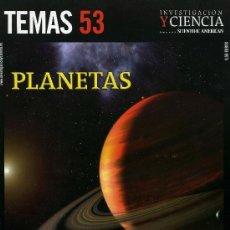 Coleccionismo de Revistas y Periódicos: INVESTIGACION Y CIENCIA -TEMAS 53 PLANETAS. Lote 194548687
