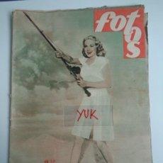 Coleccionismo de Revistas y Periódicos: FOTOS Nº 602 - SEMANARIO GRAFICO - DALI - MARY PICKFORD - ROBIN DE LOS BOSQUES -PUBLICIDAD AÑO 1948. Lote 194565463