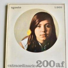 Coleccionismo de Revistas y Periódicos: REVISTA 200 AF. Nº EXTRAORDINARIO, AGOSTO, 1968. CLÁSICOS DE LA FOTOGRAFÍA CONTEMPORÁNEA ESPAÑOLA. Lote 194575372