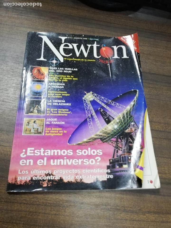 REVISTA. NEWTON. Nº 4. AGOSTO 1998. ¿ ESTAMOS SOLOS EN EL UNIVERSO?. ULTIMOS PROYECTOS CIENTIFICOS. (Coleccionismo - Revistas y Periódicos Modernos (a partir de 1.940) - Otros)