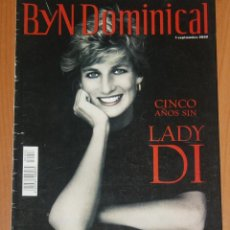 Coleccionismo de Revistas y Periódicos: BYN DOMINICAL 2002 PRINCESS DIANA WALES LOS TIGRES DEL NORTE SPAIN MAGAZINE. Lote 194588630