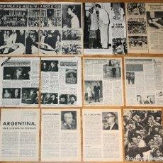 Coleccionismo de Revistas y Periódicos: JUAN PERON LOTE PRENSA SPAIN CLIPPINGS 1970S PHOTOS MAGAZINE ARTICLES POLITICA ARGENTINA ISABEL. Lote 194590493