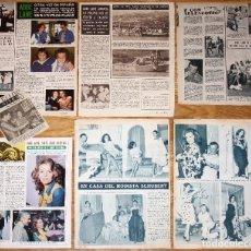 Coleccionismo de Revistas y Periódicos: ABBE LANE LOTE PRENSA 1960S/70S SPAIN CLIPPINGS PHOTOS MAGAZINE ARTICLES XABIER CUGAT. Lote 194591036
