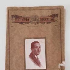 Coleccionismo de Revistas y Periódicos: ANTIGUOS ALUMNOS. COLONIA EDUCATIVA. AÑO I NUMERO I. CASTELLON 1926. W. Lote 194601606
