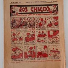 Coleccionismo de Revistas y Periódicos: SUPLEMENTO DE EL MERCANTIL VALENCIANO LOS CHICOS. Nº 339. 6 ABRIL 1936. W. Lote 194606538