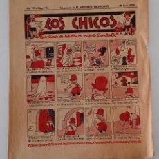 Coleccionismo de Revistas y Periódicos: SUPLEMENTO DE EL MERCANTIL VALENCIANO LOS CHICOS. Nº 342. 27 JUNIO 1936. W. Lote 194606968