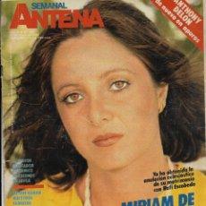 Coleccionismo de Revistas y Periódicos: == R47 - ANTENA SEMANAL - PORTADA MIRIAM DE LA SIERRA. Lote 194620481