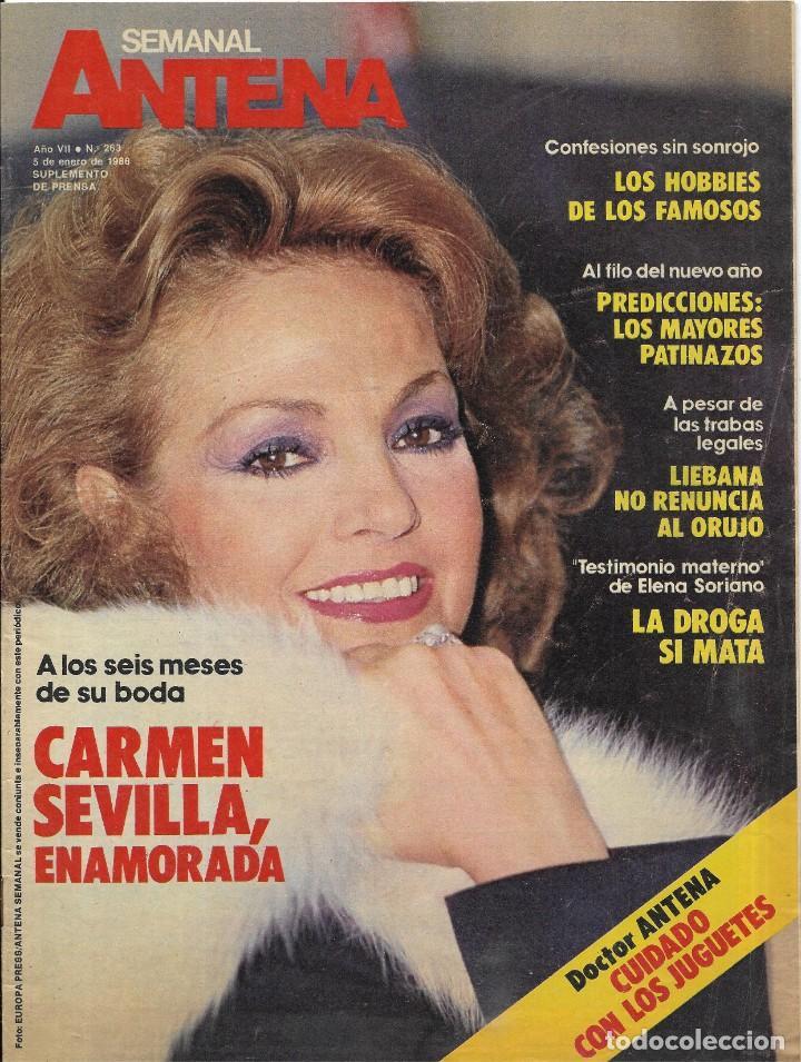 == R48 - ANTENA SEMANAL - PORTADA CARMEN SEVILLA ENAMORADA (Coleccionismo - Revistas y Periódicos Modernos (a partir de 1.940) - Otros)