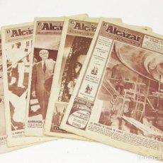 Coleccionismo de Revistas y Periódicos: 5 EJEMPLARES DEL PERIÓDICO EL ALCÁZAR. 1955 Y 1959.. Lote 194622851