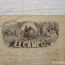 Coleccionismo de Revistas y Periódicos: REVISTA EL CAMPO-SIGLO XIX- CACERIA DAIMIEL-CONSUENDA-ROBLEDOLLANO-TIRO PICHÓN MADRID-CABALLOS. Lote 194623737
