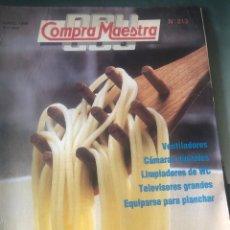 Coleccionismo de Revistas y Periódicos: REVISTA 'OCU COMPRA MAESTRA', Nº 213. MAYO 1998. PASTA, VENTILADORES, CÁMARAS DIGITALES, ETC.. Lote 194623978