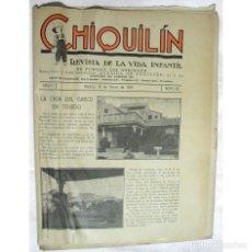 Coleccionismo de Revistas y Periódicos: REVISTA CHIQUILIN, Nº 55, 18 ENERO 1925, EDITADA EN MADRID, POR FEDERICO BONET. CASA GRECO TOLEDO…. Lote 194626332