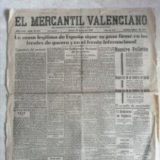 Coleccionismo de Revistas y Periódicos: EL MERCANTIL VALENCIA. 16 ENERO 1937. DIARIO CONTROLADO POR LA DELEGACIÓN DEL COMITE EJECUTIVO POPUL. Lote 194627861