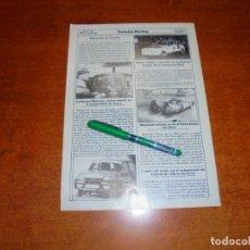 Coleccionismo de Revistas y Periódicos: RETAL 1986: NIKI LAUDA EN TENERIFE. XAVIER CALMET VENCEDOR EN IBIZA - I TROFEO FIAT-ISLAS CANARIAS. Lote 194639337