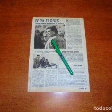 Coleccionismo de Revistas y Periódicos: CLIPPING 1988: PEPA FLORES, MARISOL.. Lote 194643180
