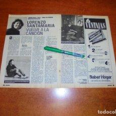 Coleccionismo de Revistas y Periódicos: CLIPPING 1988: LORENZO SANTAMARÍA. . Lote 194643275