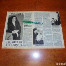 Coleccionismo de Revistas y Periódicos: CLIPPING 1988: MASSIEL. . Lote 194643561