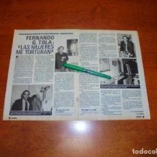 Coleccionismo de Revistas y Periódicos: CLIPPING 1988: FERNANDO G. TOLA - PAOLA DOMINGUÍN. NORMA DUVAL. . Lote 194643760