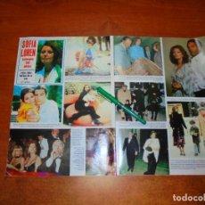 Coleccionismo de Revistas y Periódicos: CLIPPING 1984: SOFIA LOREN. CARLO PONTI. MARCELL MASTROIANI. SILVIA MUNT. JOSE LUIS PERALES. JOSE CA. Lote 194645757