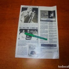 Coleccionismo de Revistas y Periódicos: CLIPPING 1984: ÁVILA, BODA ARISTÓCRATICA (CON PRESENCIA DE DÑA. CARMEN FRANCO). WALTER PIDGEON.. Lote 194645857