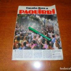 Coleccionismo de Revistas y Periódicos: PÓSTER 1984: ESPAÑA LLORA A PAQUIRRI. Lote 194646020