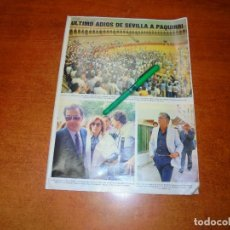 Coleccionismo de Revistas y Periódicos: PÓSTER 1984: PAQUIRRI. ROCÍO JURADO. PACO CAMINO. PACO DE LUCÍA. ÁNGEL PERALTA. JORGE VESTRINGE. . Lote 194646080
