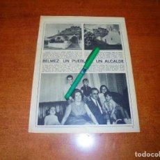 Coleccionismo de Revistas y Periódicos: PÓSTER 1969: BELMEZ: UN PUEBLO Y UN ALCALDE. Lote 194646315