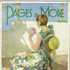 Coleccionismo de Revistas y Periódicos: PAGES DE MODE ÉTÉ 1928 ILUSTRACIONES MODA . Lote 194658960