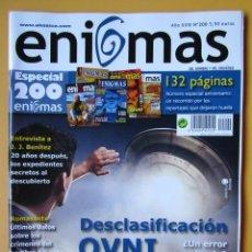 Coleccionismo de Revistas y Periódicos: ENIGMAS DEL HOMBRE Y DEL UNIVERSO. AÑO XVIII. Nº 200 (DESCLASIFICACIÓN 0VNI) ESPECIAL 200 ENIGMAS - . Lote 194670208