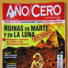 Coleccionismo de Revistas y Periódicos: AÑO CERO - NÚM. 279 (RUINAS EN MARTE Y EN LA LUNA) - DIVERSOS AUTORES. Lote 194670288