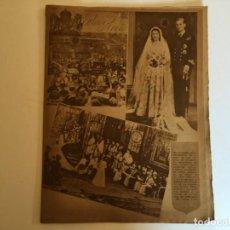 Coleccionismo de Revistas y Periódicos: PERIODICO DIARIO DE BARCELONA AÑO 1947 NUMERO PORTADA ESPECIAL ENLACE REINA DE INGLATERRA. Lote 194704600