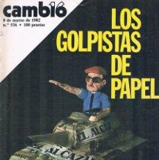 Coleccionismo de Revistas y Periódicos: REVISTA CAMBIO 16 NUMERO 536 MARZO 1982 LOS GOLPISTAS DE PAPEL. Lote 194718423