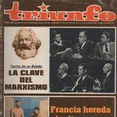 Coleccionismo de Revistas y Periódicos: REVISTA TRIUNFO. AÑO XXXIII Nº 878 OCTUBRE 1979. - A-REV-1697. Lote 194720680